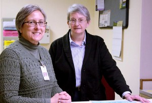 Melynda Swoyer, MSN-APRN, left, and Dr. Mary Rardin are the two newest medical staff members at Jefferson County Memorial Hospital.