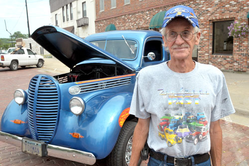 Don Tvrdik and his 1939 Ford half-ton pickup