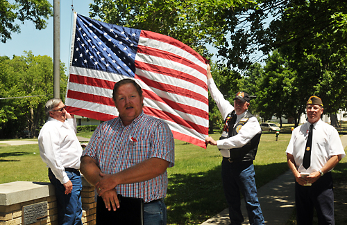 Mayor Charles Stutesman asked the veterans to hold a memorial service in the city park  at the flag pole that honors the community's war dead from the Vietnam War.
