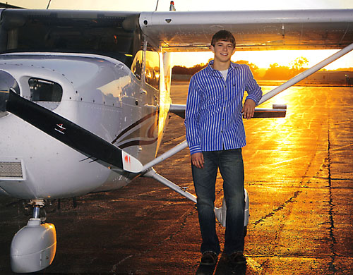 Dale Hupes love of flying led to a pilots license which he earned in April of this year.