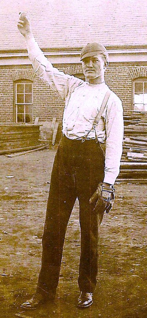 "Luther ""Dummy"" Taylor used baseball as a vehicle to overcome what many perceived as being handicapped. Taylor went on to an eight-year Major League Baseball career with New York and Cleveland. Photo courtesy of the Deaf Cultural Center."
