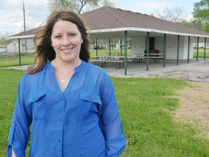Jenny Brading is leading an effort to improve the city park in Meriden where a carnival Saturday will launch her committee on the road to providing playground equipment.