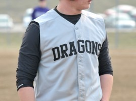 Valley Falls Dragons first baseman Kyle Glissman