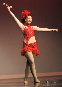 "McLouth High School graduate Ashlee Herken performed her solo ""Dancin' Fool"" June 1 at Free State High School. She was one of seven seniors who attended the dance recital. Photo by Clarke Davis"