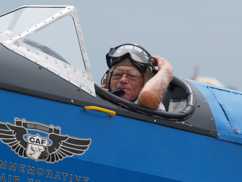 Ted Montgomery, 92, gets ready to go up in a Fairchild PT-19. The last time he occupied that seat was 70 years ago. Complimentary photos